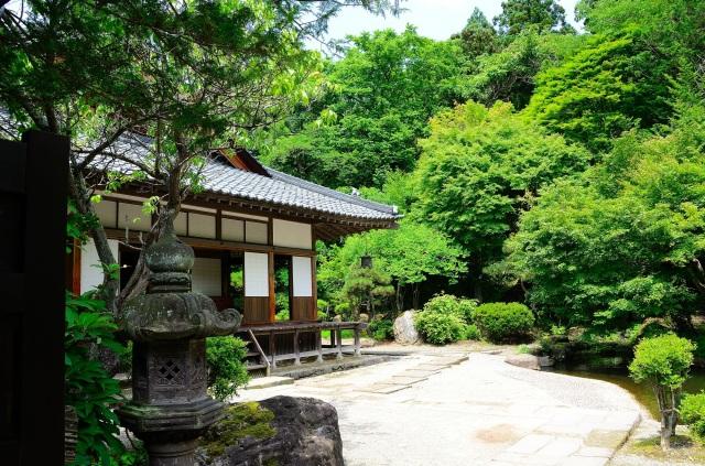 緑豊かな西郷頼母の屋敷