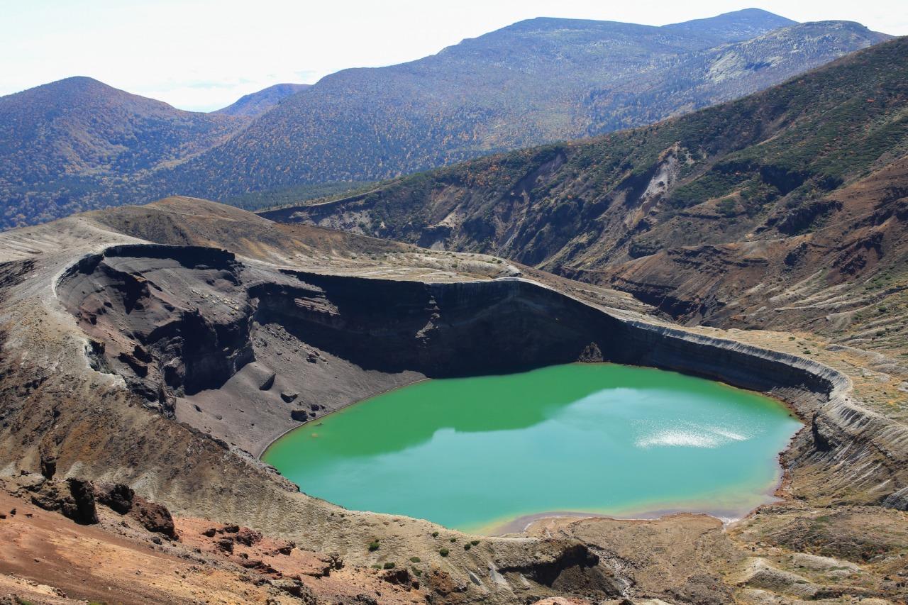 Okama Crater and the Zao Mountain Range