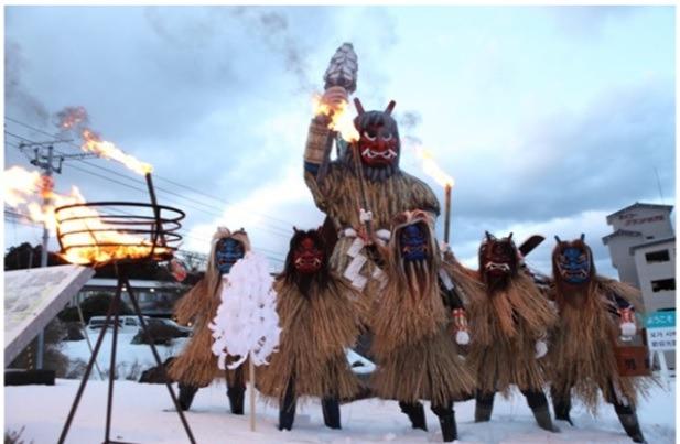มรดกทางวัฒนธรรมที่จับต้องไม่ได้ของยูเนสโกรำลึกถึงการขึ้นทะเบียน!เปิดประสบการณ์! นามะฮะเงะในฤดูหนาว!