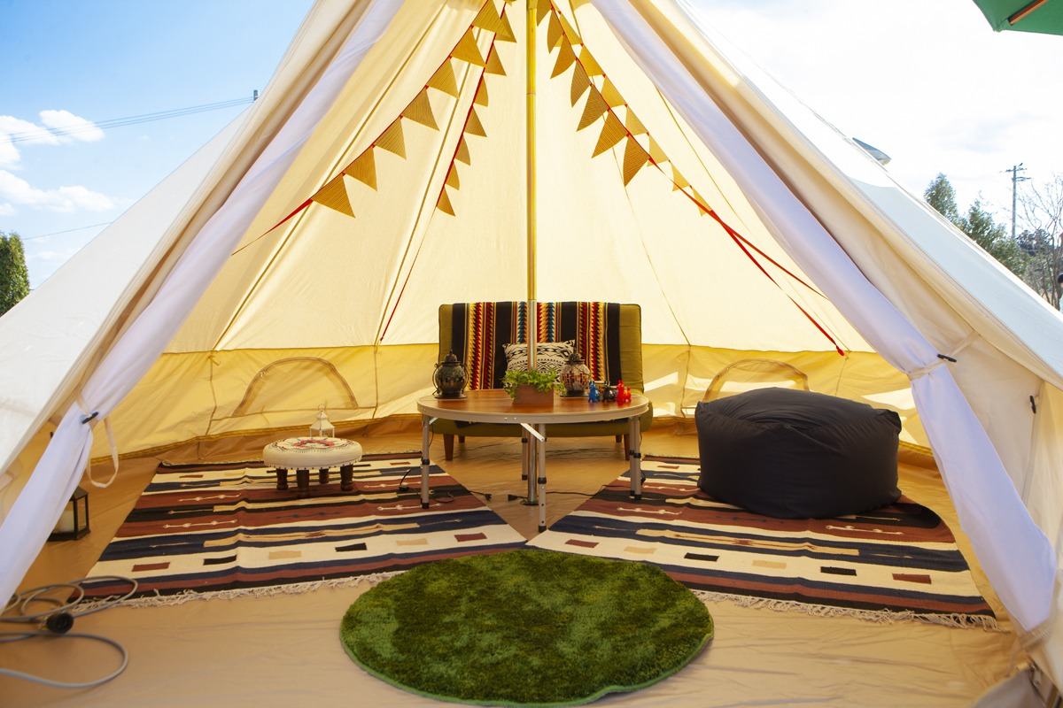 BBQ and glamping with everything prepared for you